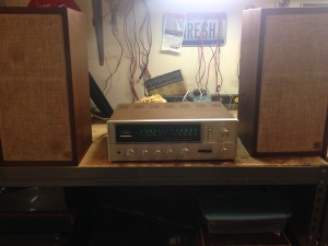 A vintage Sansui with AR4's